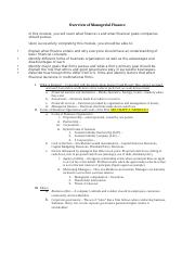 Overview of Managerial Finance Lecture Notes Student Version.docx
