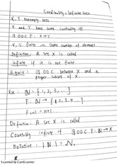 cardinality: infinite sets note