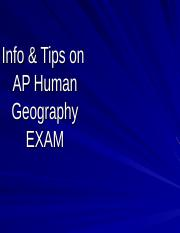 APHG EXAM Review and Tips_2013_Tomlinson2 (1)