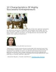 12 Characteristics Of Highly Successful Entrepreneurs(1)