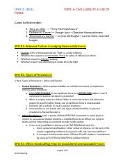 Unit 2 - Topic 6 Civil Liability & Use of Force.docx