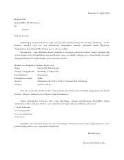 Surat Lamaran Kerja Jt Posisi Admin Dikonversi Pdf Pamotan 07 April 2020 Kepada Yth Kepala Hrd Pt Id Express Di Tempat Dengan Hormat Sehubungan Dengan Course Hero