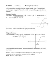 Math 1021 Section 2.1