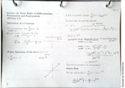MAC2311 Lecture 14 Basic Rules of Differentiation Polynomials and Exponentials notes