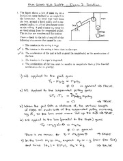 Exam 2 Solution Fall 2007 on Physics 1 Honors with Mechanics