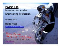 Lecture 1 Introduction to Engineering - Section 1
