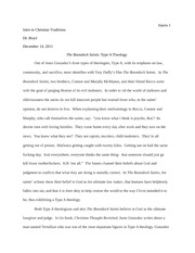 Final Paper- The Boondock Saints and Type A Personality