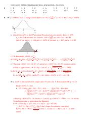 STAT 225 Final Exam STUDY GUIDE Solutions