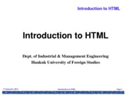 Lecture 2 HTML