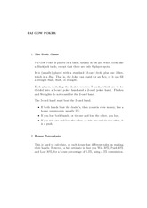 Lecture Notes F on Mathematics of Casino Gambling