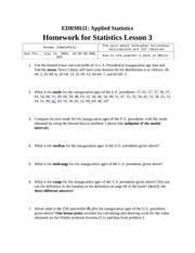 Homework C on Applied Statistics