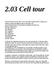 2.03 Cell tour.odt
