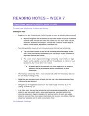 2014 10 20 Reading Notes – Week 7