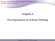 Anderson Ch 6 Critical Thinking