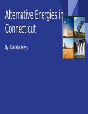 Alternative Energies in  Connecticut.pptx