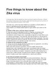 Five things to know about the Zika virus.docx