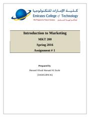 Service Marketing - MKT100 MKT200.docx