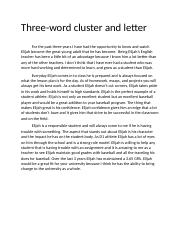 3 word cluster and letter .docx