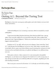 Outing A.I.: Beyond the Turing Test - The New York Times.pdf