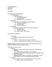 Accounting Midterm 1 study guide