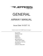 Jeppesen Airway Manual General