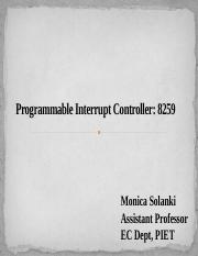 8259_Programmable Interrupt Controller