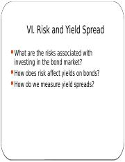 MFIN5400_s06 - risks and yield spread