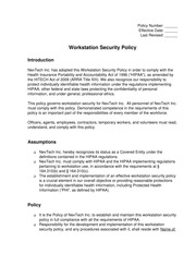(WMC-43) Workstation Security Policy