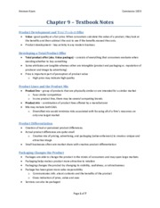 Chapter 9 - Textbook Notes