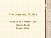 Fractions and Rulers (Algebra I version)
