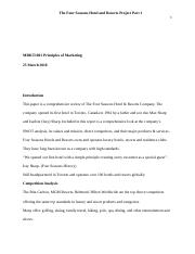The Four Seasons Hotel and Resorts Project 1 Part 1.docx