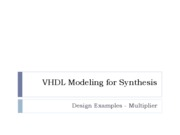VHDL Example Multiplier Smith