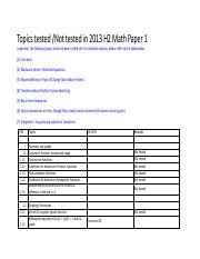 2013-A-Level-Math-P1-Tested-Tpoics