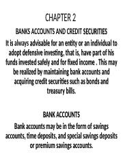 CHAPTER 2.BANK ACCOUNT AND CREDIT SECURITIES.ppt