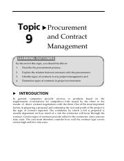 16150717Topic9ProcurementandContractManagement