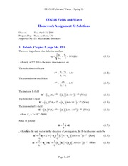 Homework Solutions on the Transmission Coefficien