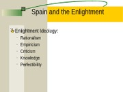 Spanish Enlightenment