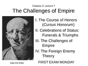 Lecture 7 The Challenges of Empire
