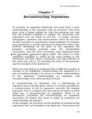 Chapter 7 - Reconstructing Arguments.doc