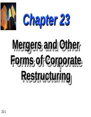 Chapter-23-Mergers-and-Other-Forms-of-Corporate-Restructuring.ppt