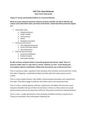 MKT 231 Exam Three Study Guide.docx
