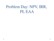 Problem Day NPV IRR Blackboard