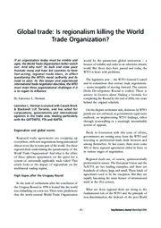 Global Trade Is Regionalism Killing the WTO_