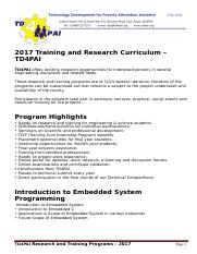 TD4PAI_embedded systems training curriculum .docx