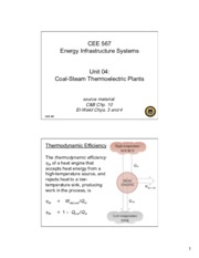 Lecture4 Coal Steam Thermoelectric Plants for Energy Infrastructual system