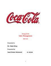 cocacola sales management project