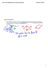 Applications of vectors with forces