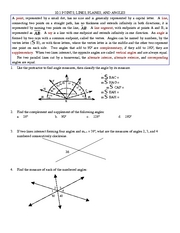 Study Guide on Lines, Points, Planes, and Angles