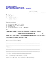 Application Form UG and PG