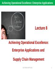 LECTURE 8 SUPPLY CHAIN MANAGEMENT SCM.pptx